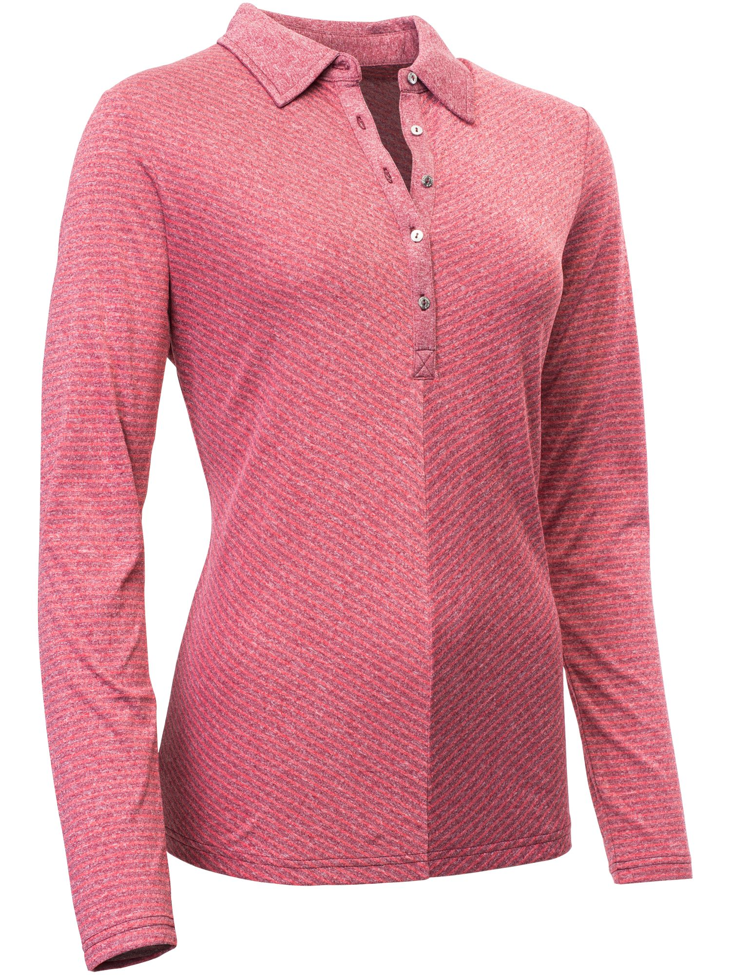 Abacus Bianca Long Sleeve Polo, Red