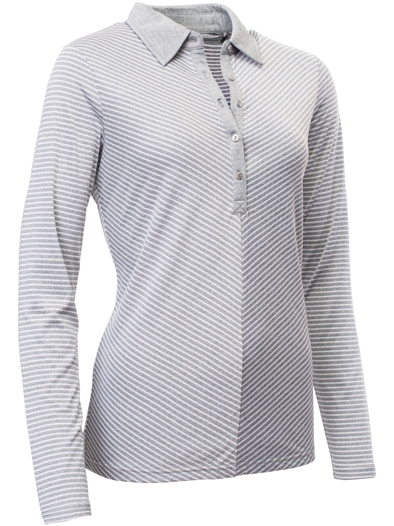 Abacus Bianca Long Sleeve Polo, Grey