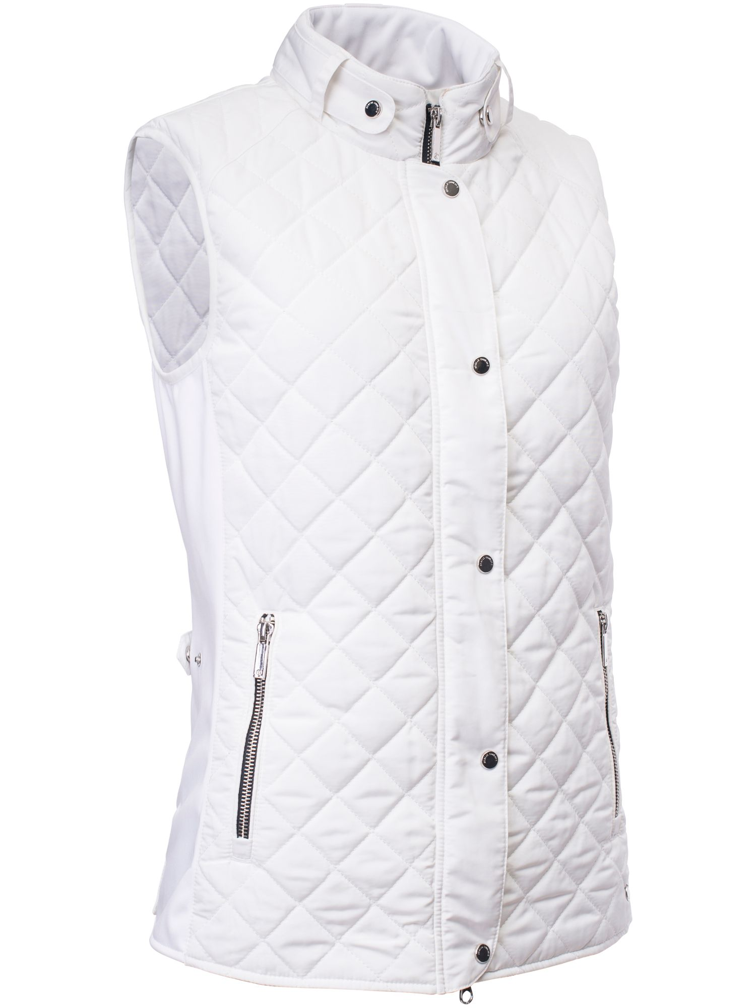 Abacus Winston Quilted Gilet, White