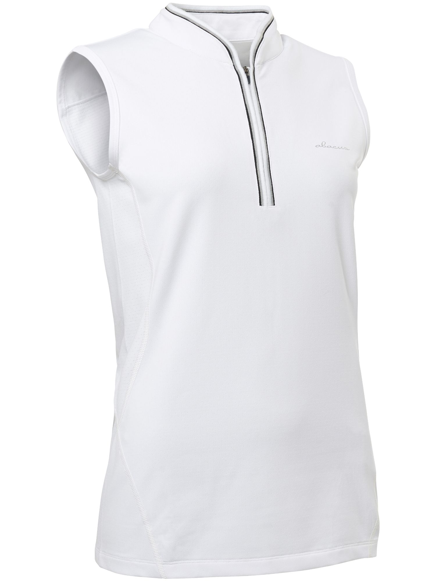 Abacus Sleeveless Polo, White