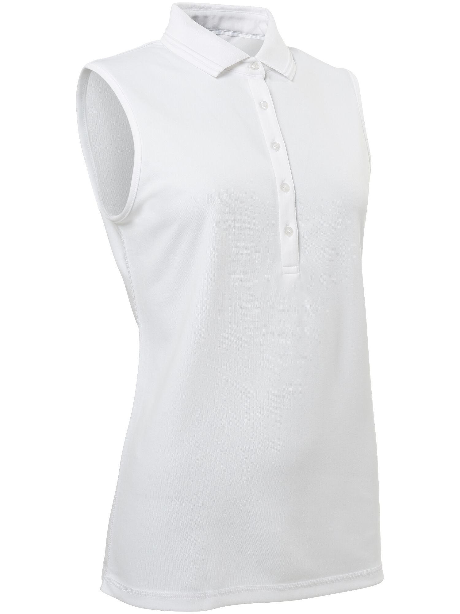 Abacus Clark Sleeveless Polo, White