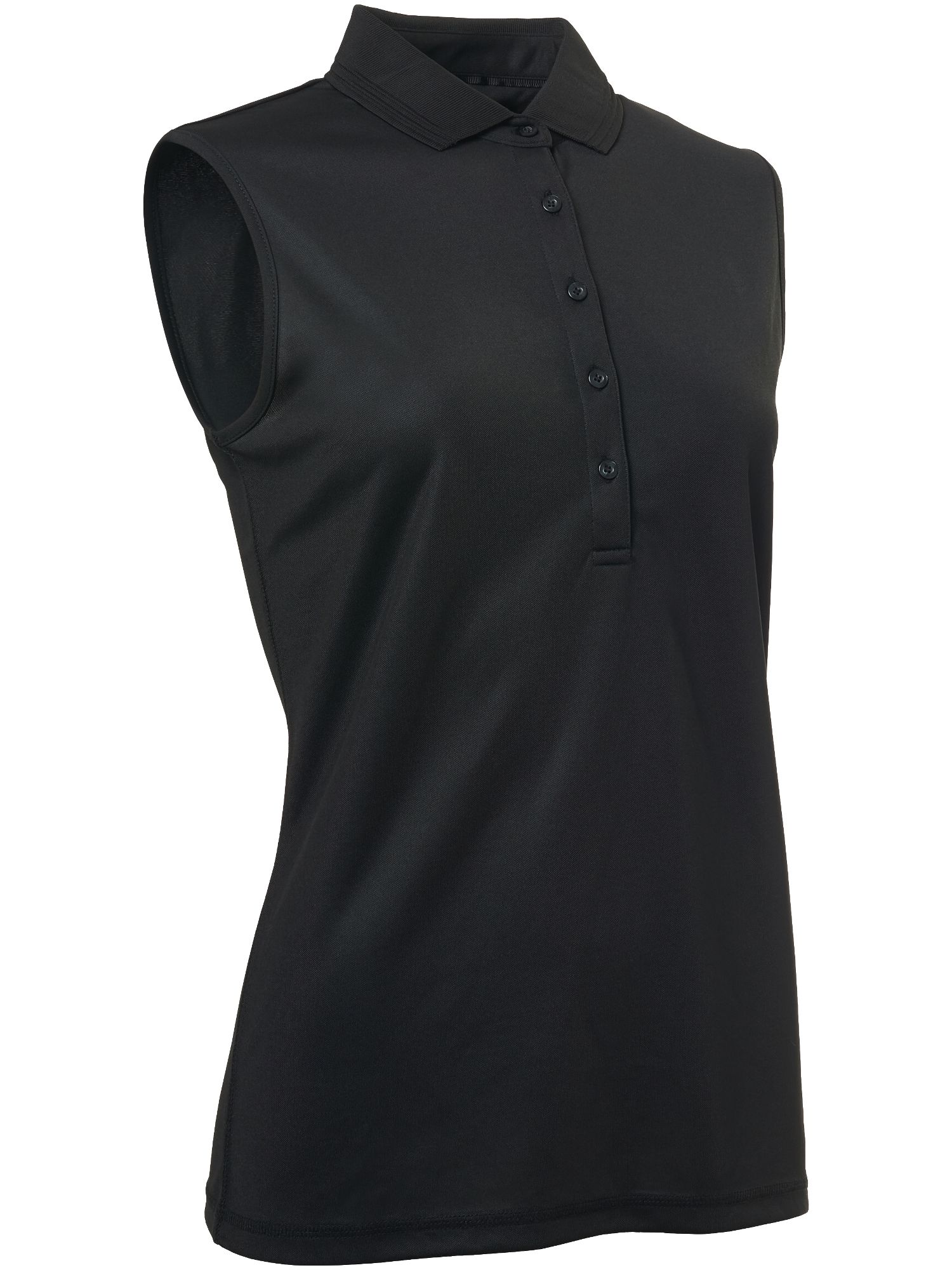 Abacus Clark Sleeveless Polo, Black