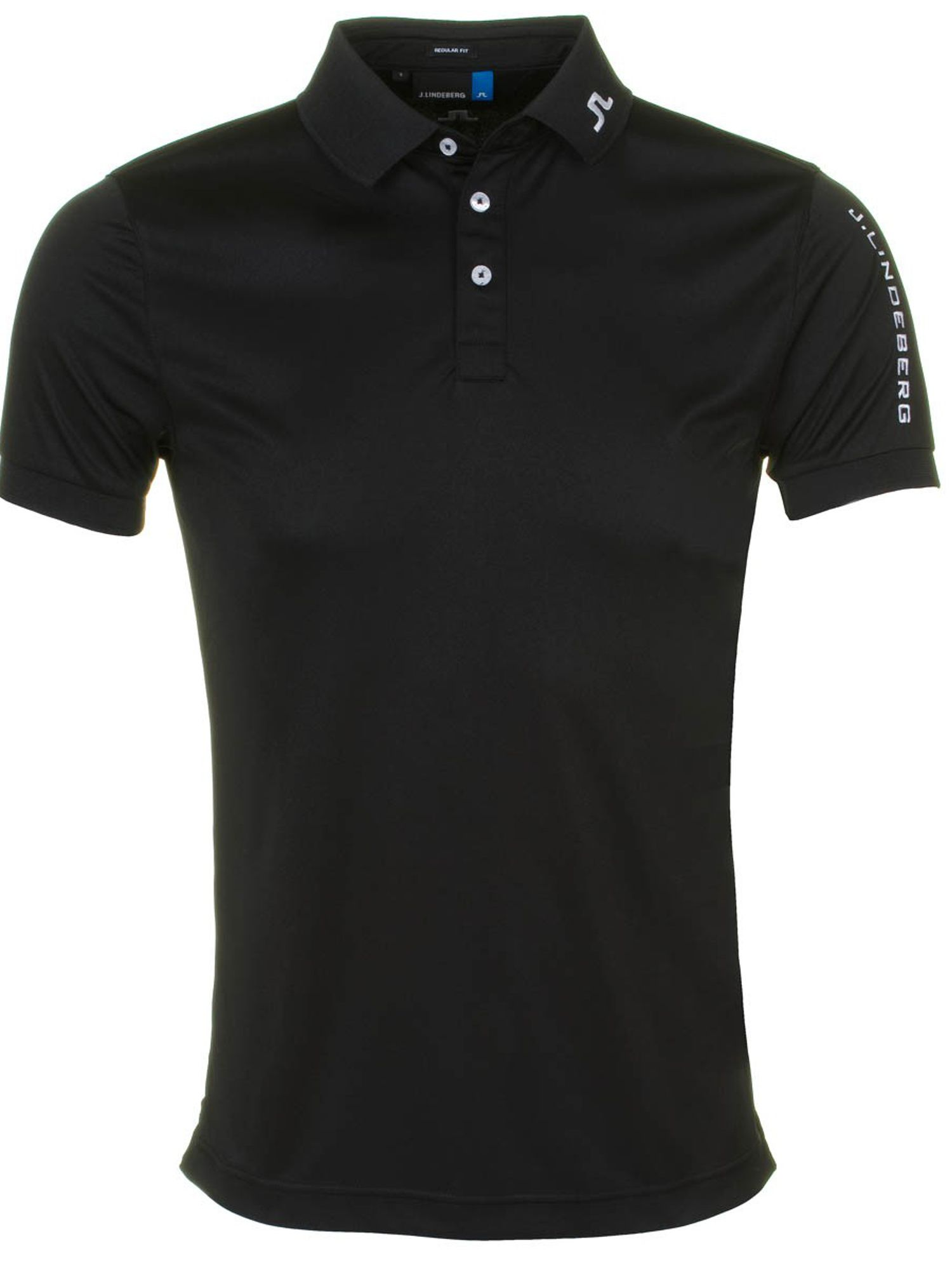 Men's J Lindeberg Golf Tour Tech Tx Polo Shirt, Black