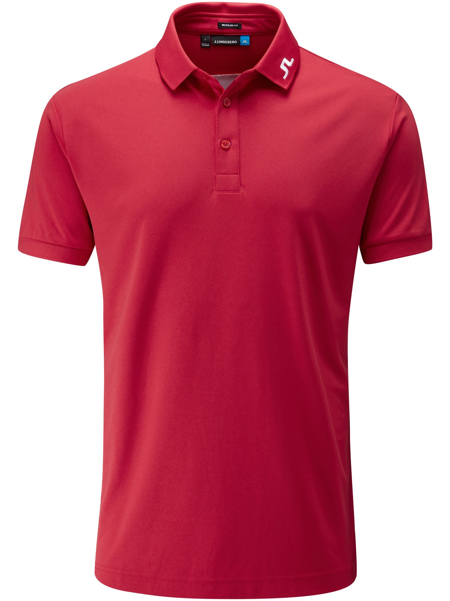 Men's J Lindeberg Golf KV TX Polo, Red