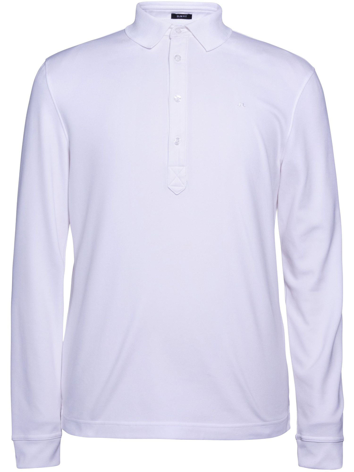 Men's J Lindeberg Olof TX Long Sleeve Polo, White