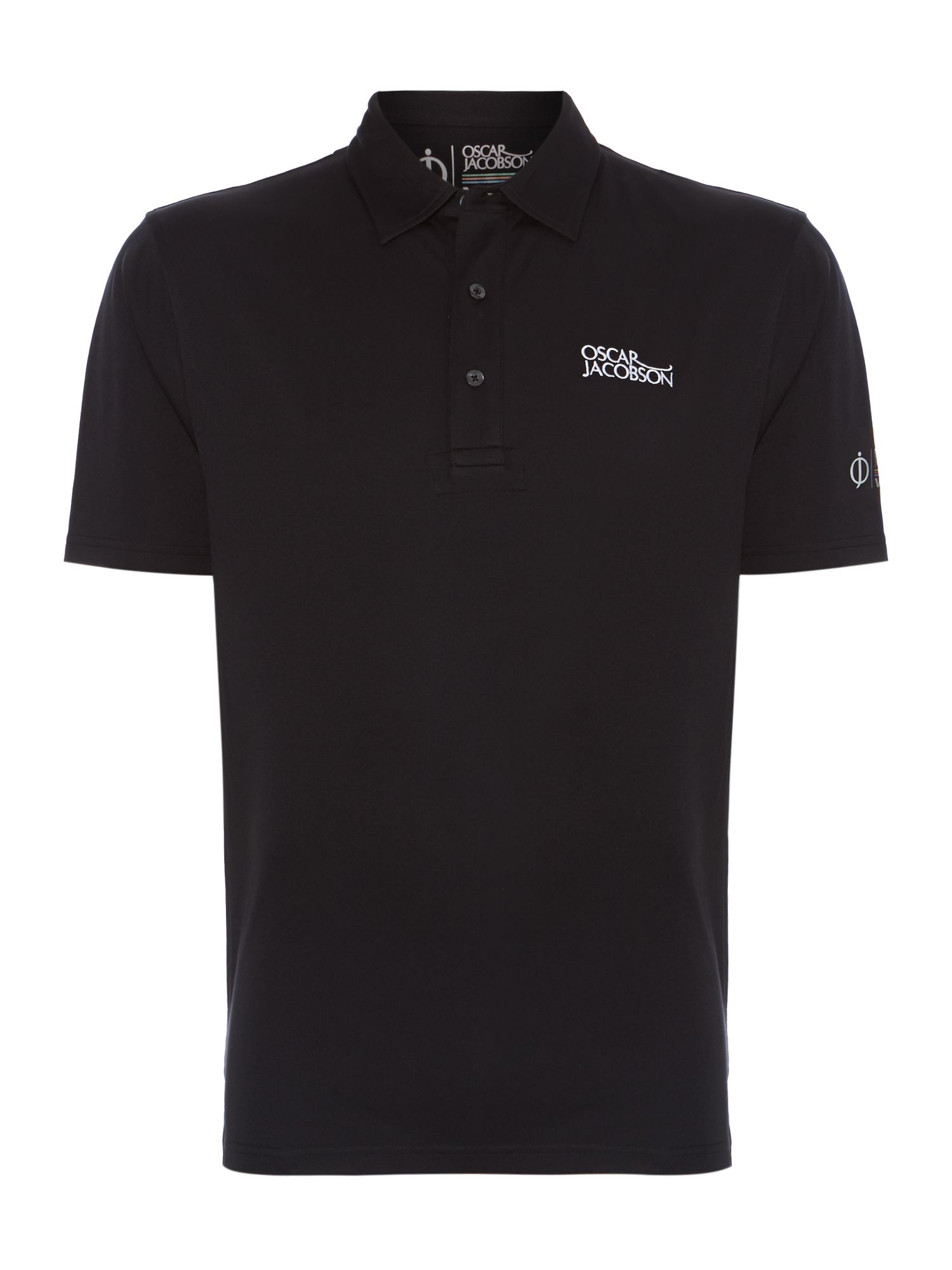 Men's Oscar Jacobson Collin Tour Polo, Black