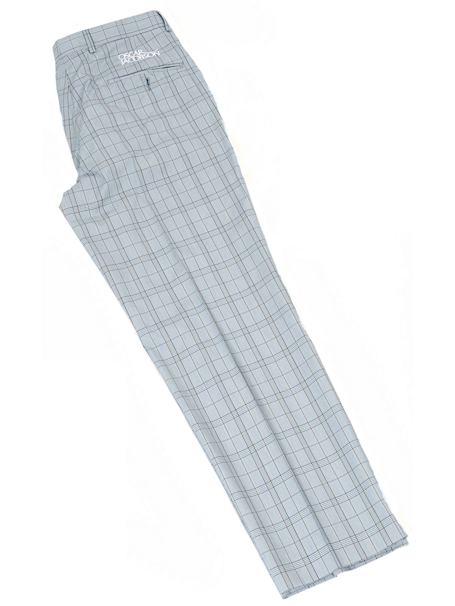 Greg Tour Logo Urban Check Chino Trousers