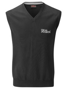 Oscar Jacobson Benjamin Plain V Neck Pull Over Vest