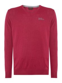 Oscar Jacobson Noah V-Neck Tour Jumper