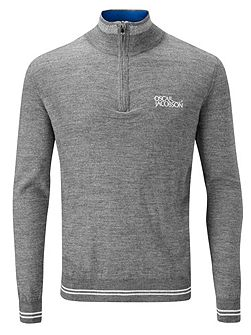 Men's Oscar Jacobson Brock tour half zip jumper