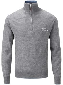 Oscar Jacobson Brett Tour Lined Half Zip Jumper