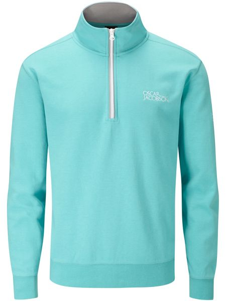 Oscar Jacobson Bradley tour quarter zip sweater