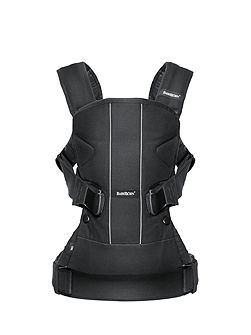 Baby Carrier One - Black Cotton