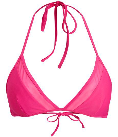 Bjorn Borg Seasonal solid triangle bikini top, Pink