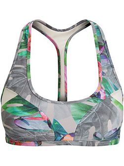 Mirage print swim sport top