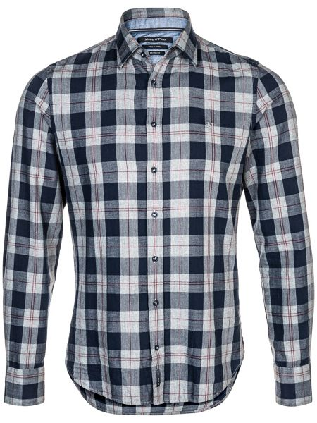Marc O'Polo Long-sleeve shirt in cosy cotton flannel