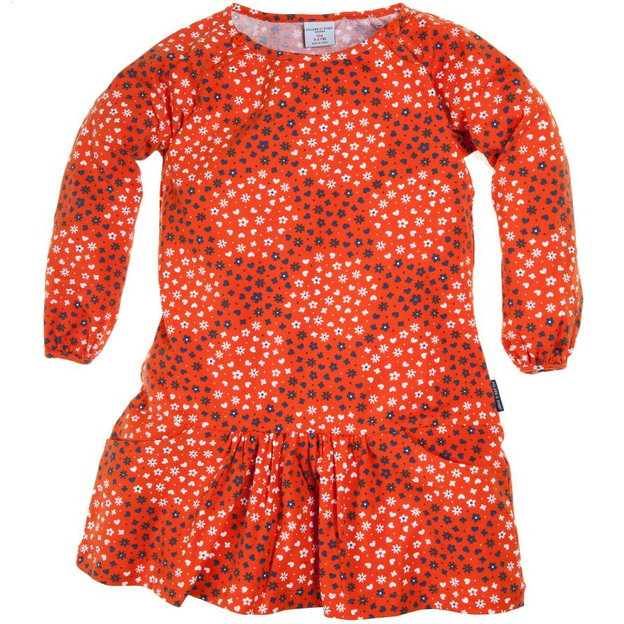 Baby girl`s long sleeved dress