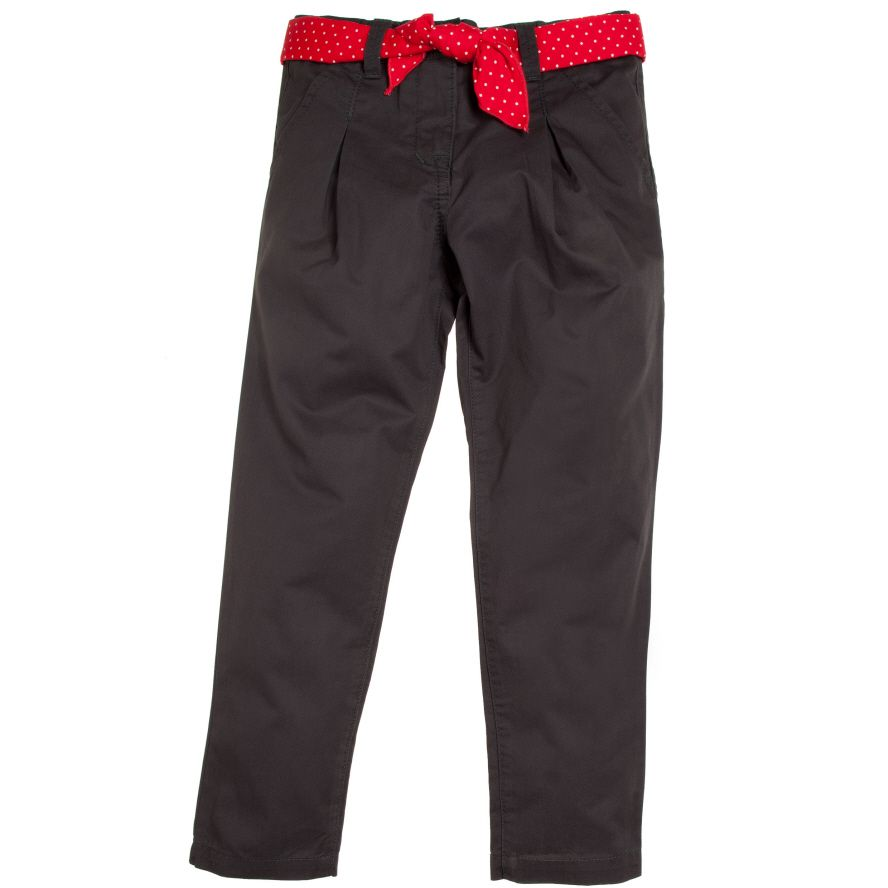 Girl`s trousers with belt