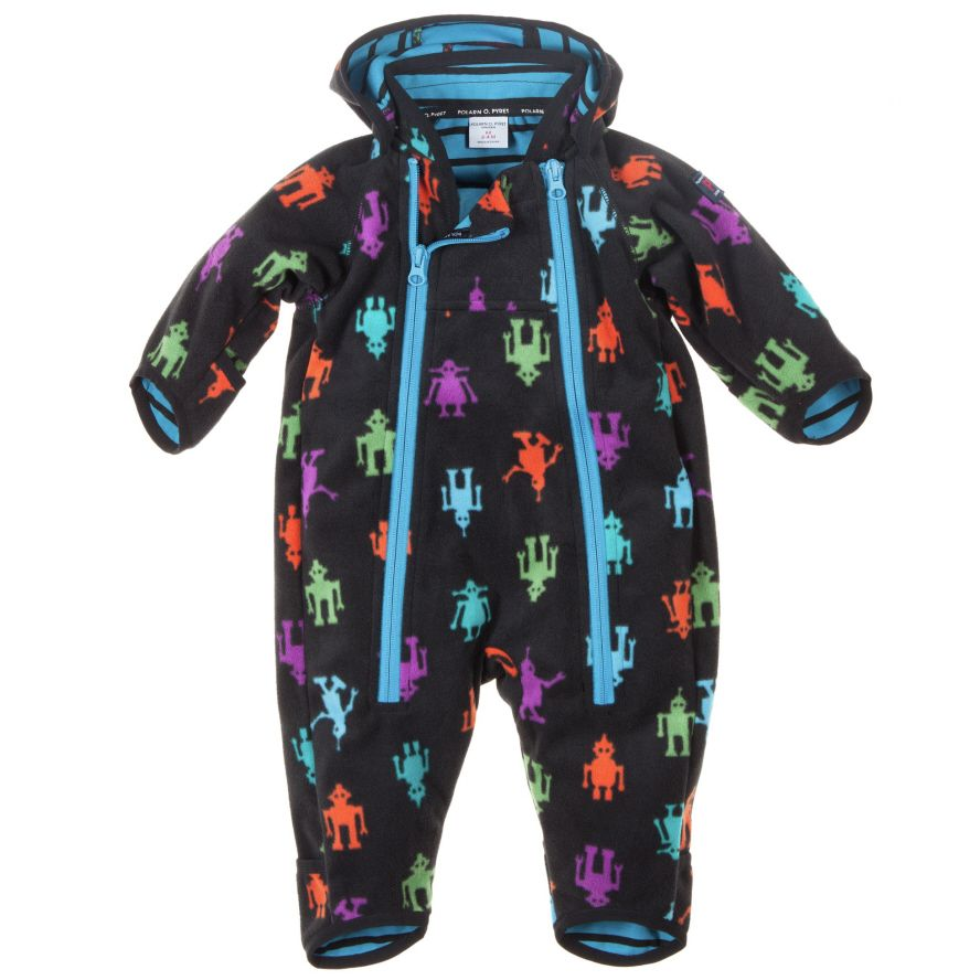 Baby wind fleece all-in-one