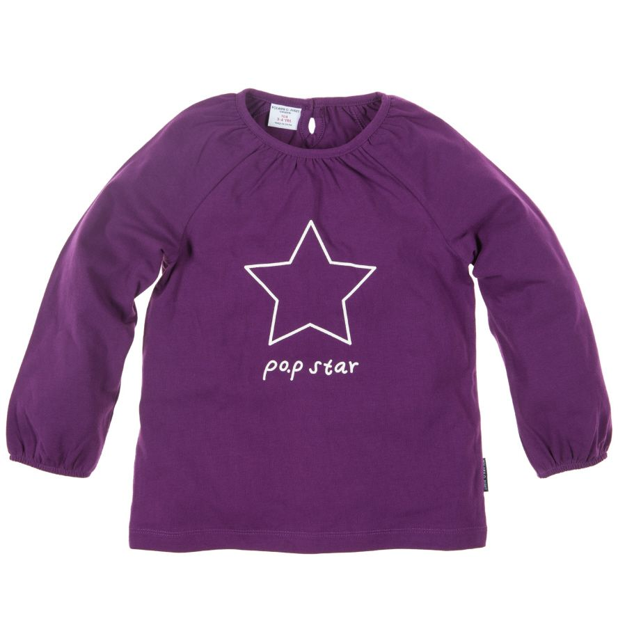 Toddler girl`s long sleeved top