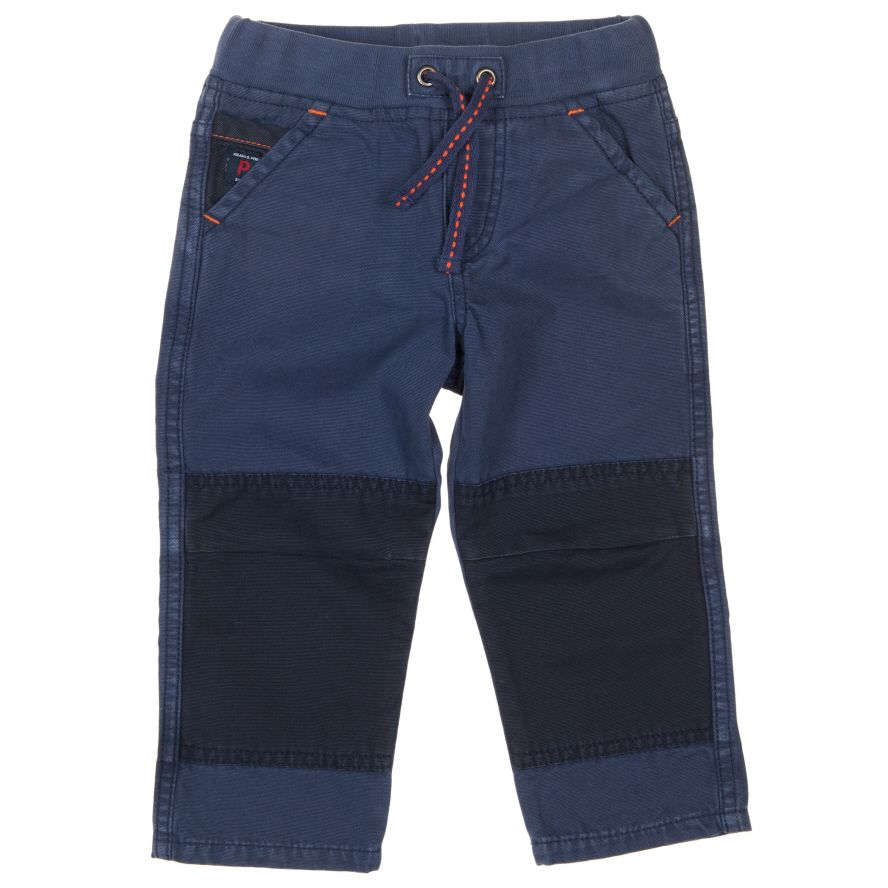 Baby boy soft canvas trousers