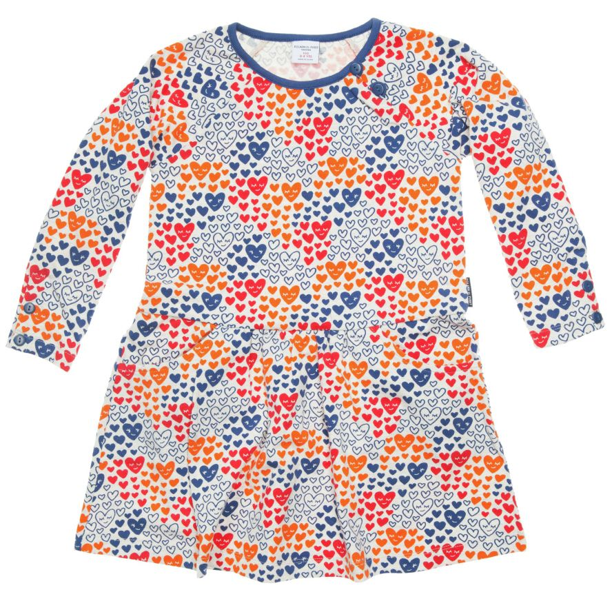 Baby girl heart print dress