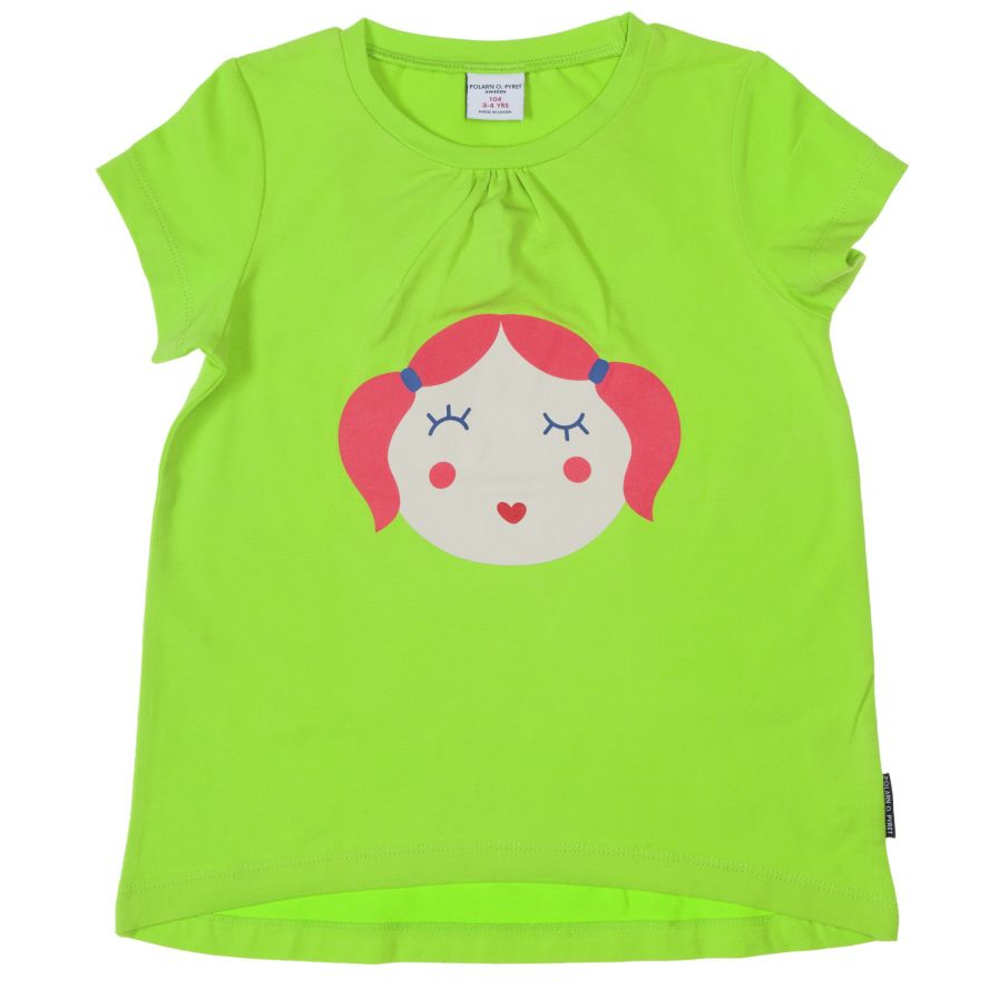 Girl`s face print top
