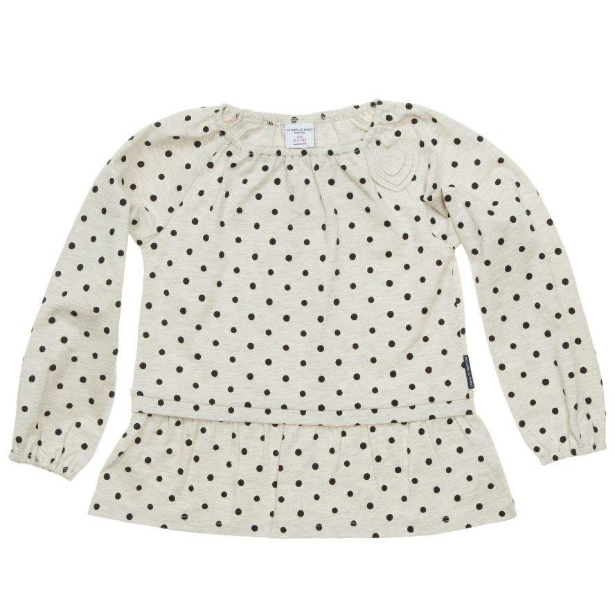 Girl`s spotty top