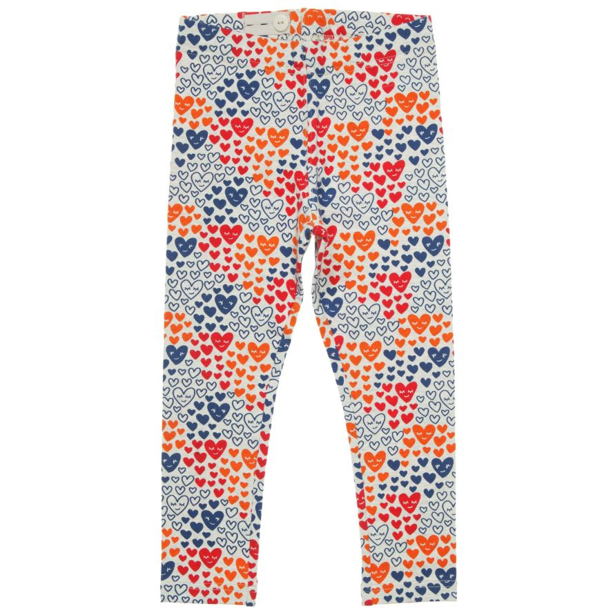 Girl`s heart print leggings