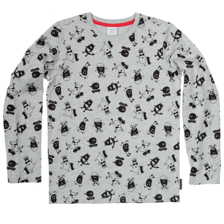 Boys printed long sleeve top