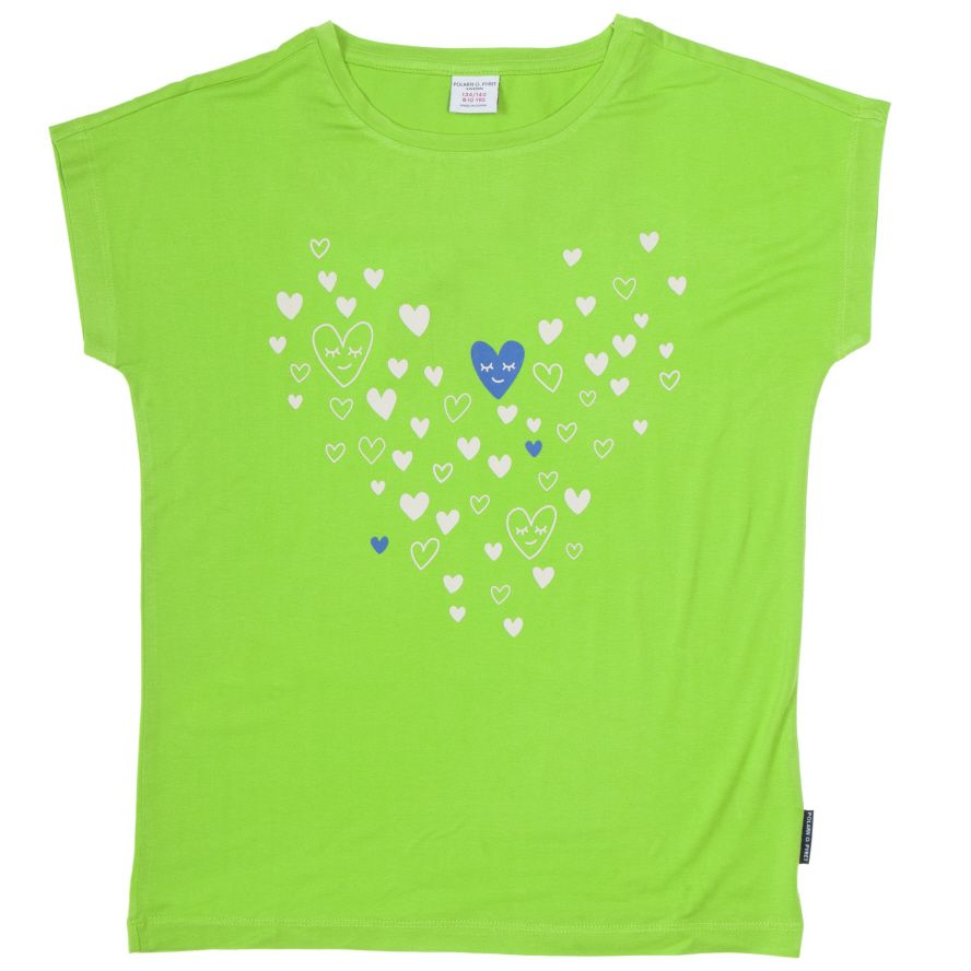 Girl`s heart print t-shirt