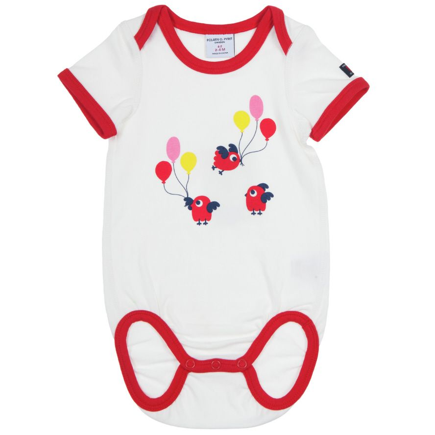 Baby`s hot air balloon bodysuit