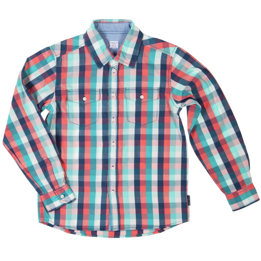 Boy`s checked soft cotton shirt