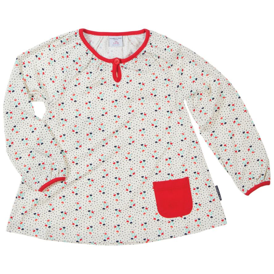 Baby girl`s tulip print top
