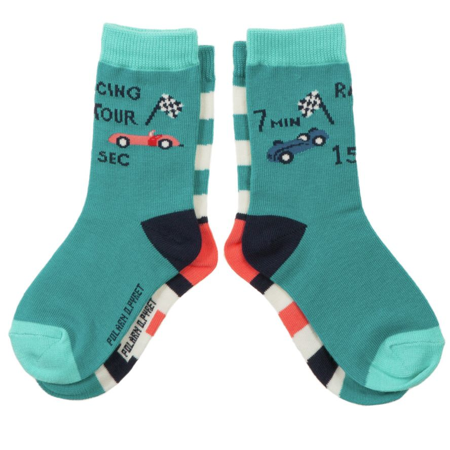 Boy`s racing tour 2 pack of socks