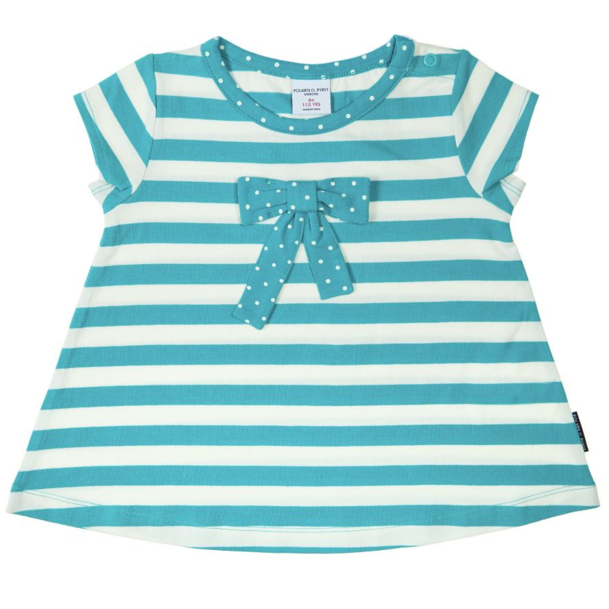 Baby girl`s stripe and bow top