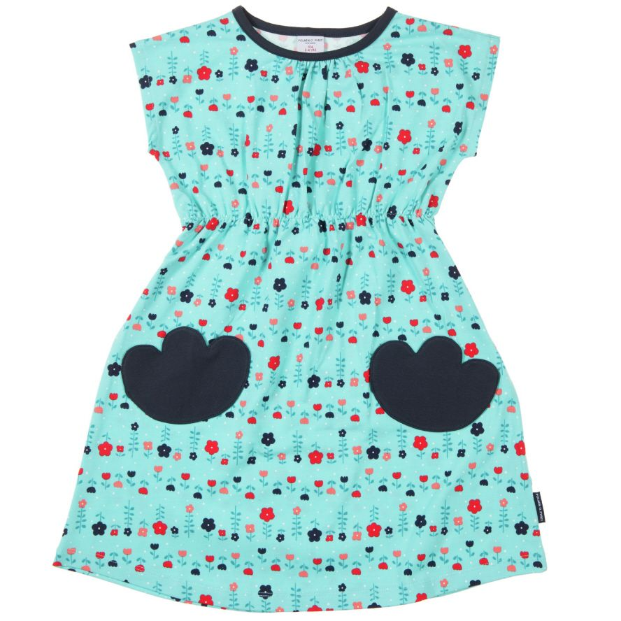Girl`s summer meadow print dress
