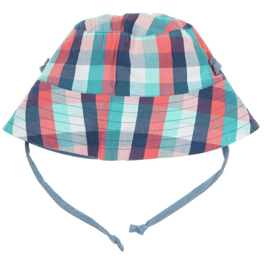 Baby`s checked reversible sunhat