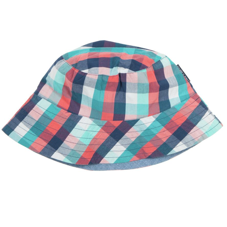 Kid`s reversible checked sunhat