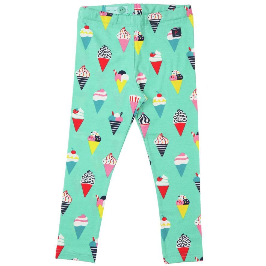 Girl`s all over ice cream print leggings