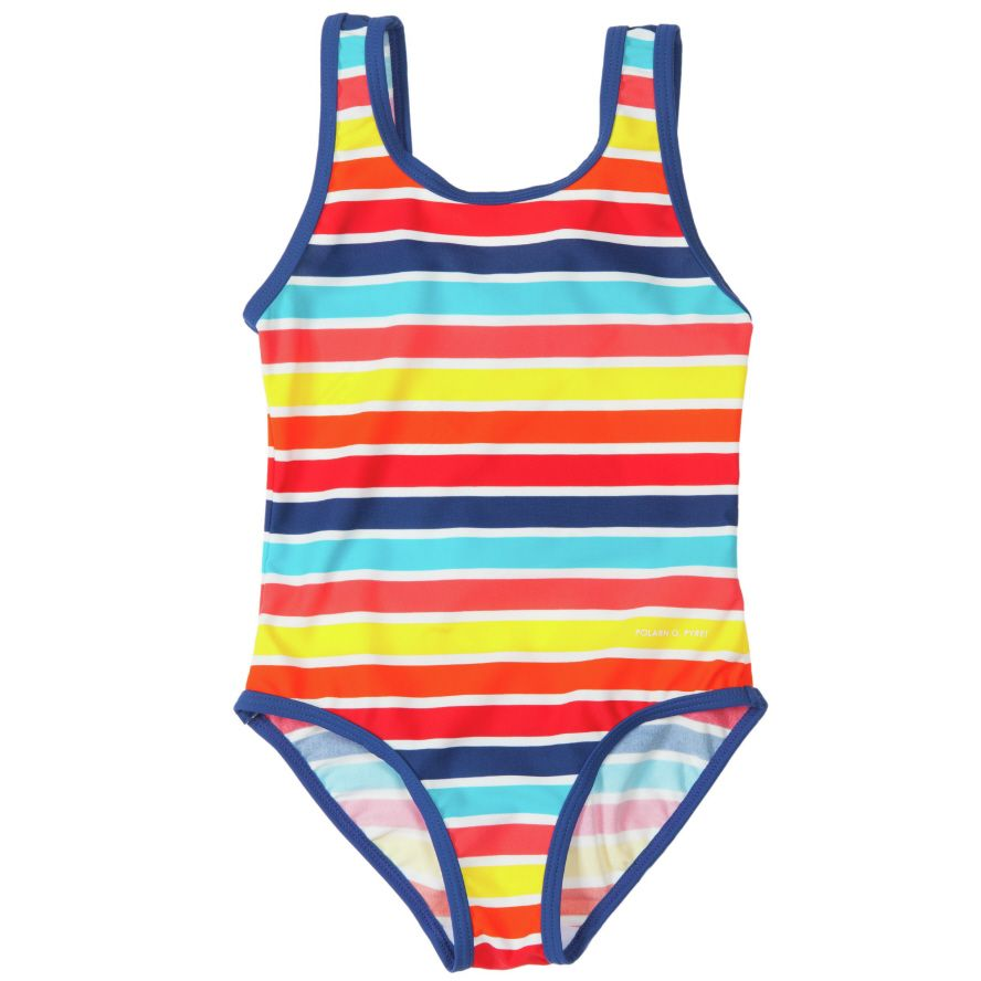 Girl`s stripe swimsuit