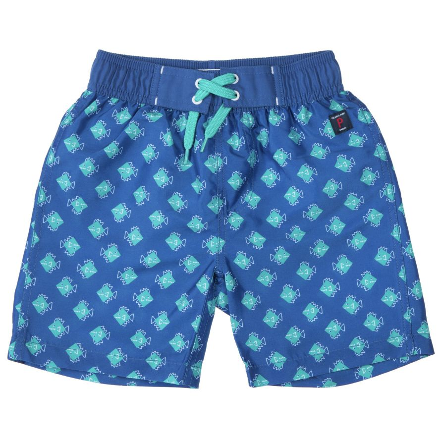 Boy`s fish print swim shorts