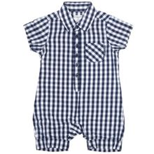Babys checked playsuit