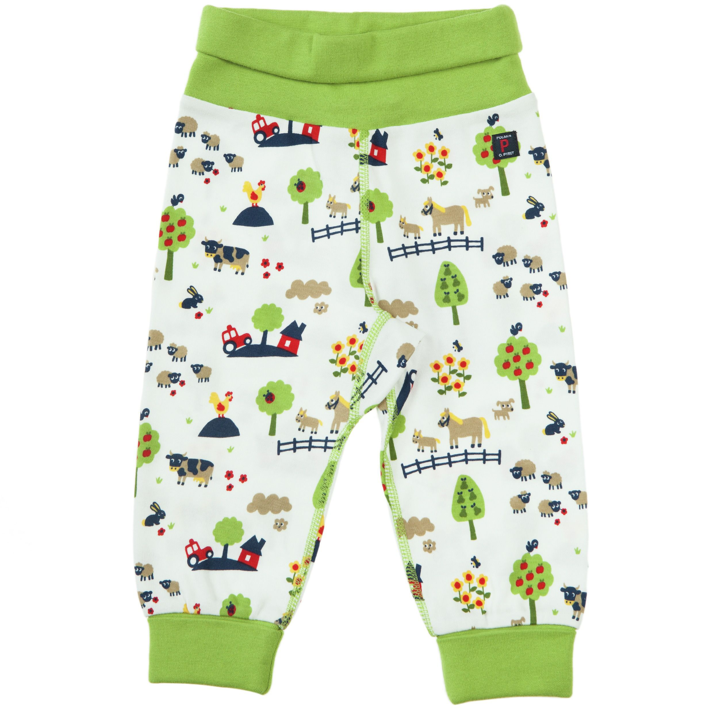 Babys fun farm print trousers