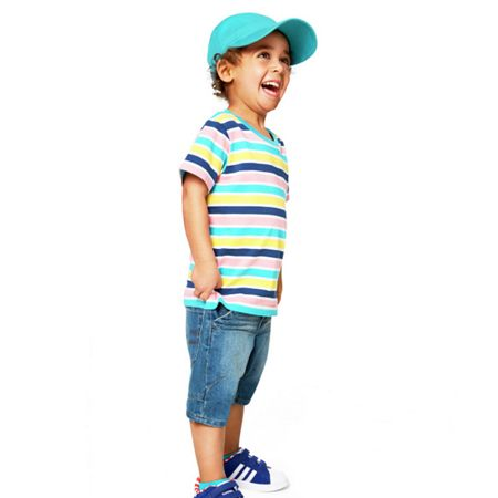 Polarn O. Pyret Kids colourful stripe t-shirt