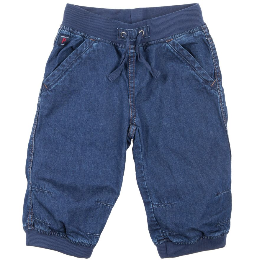 Kids denim cargo trousers