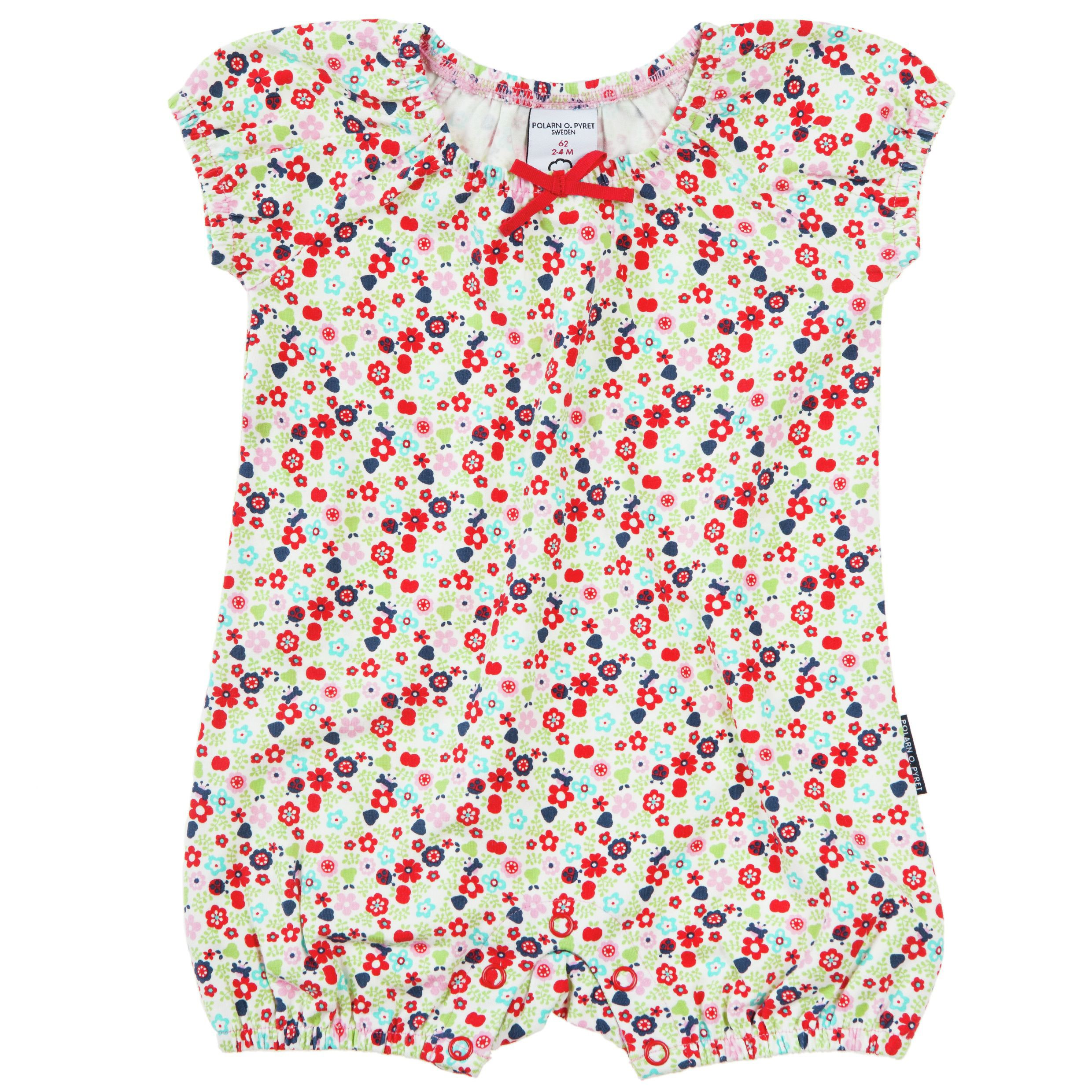 Baby girls meadow print all in one