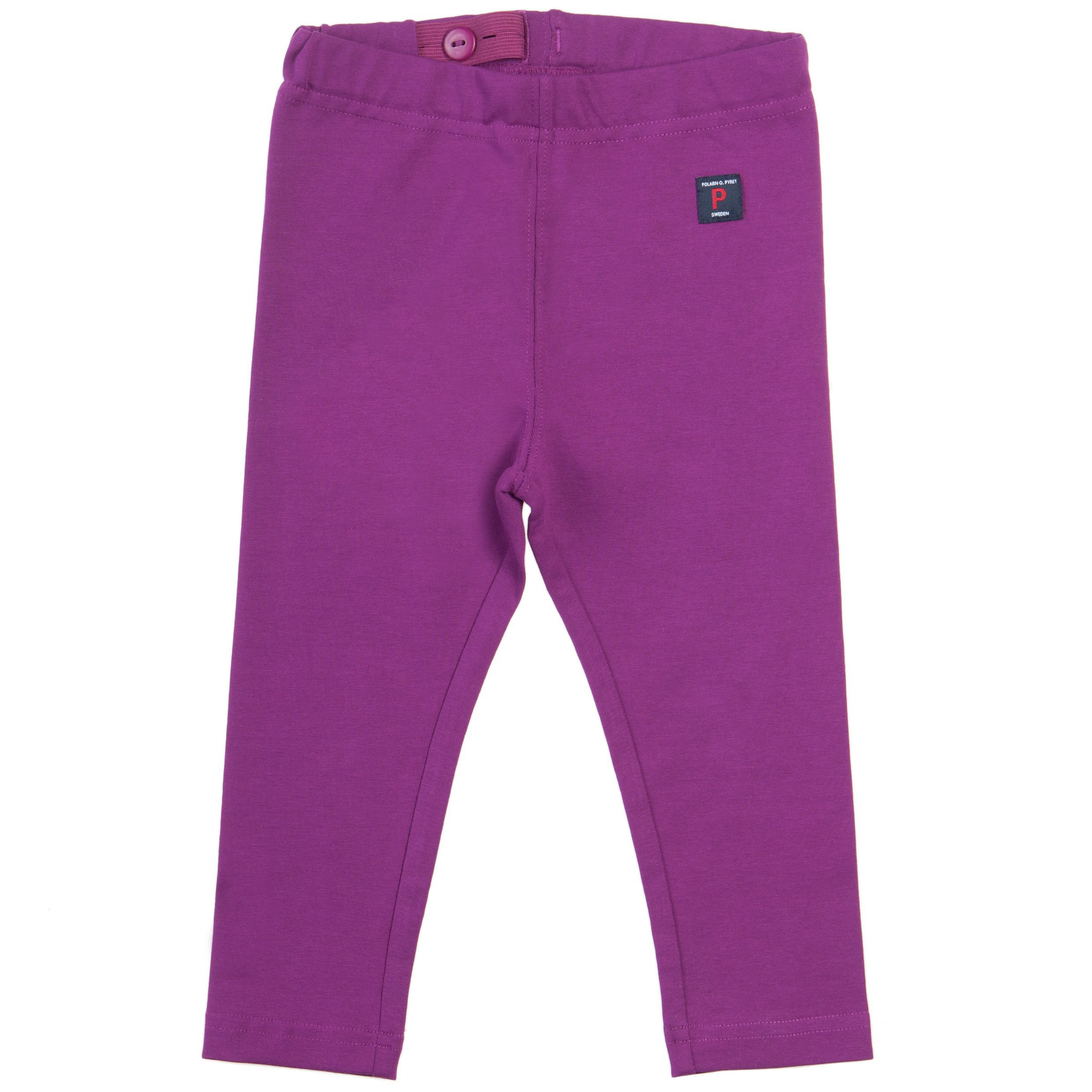 Baby girls purple leggings