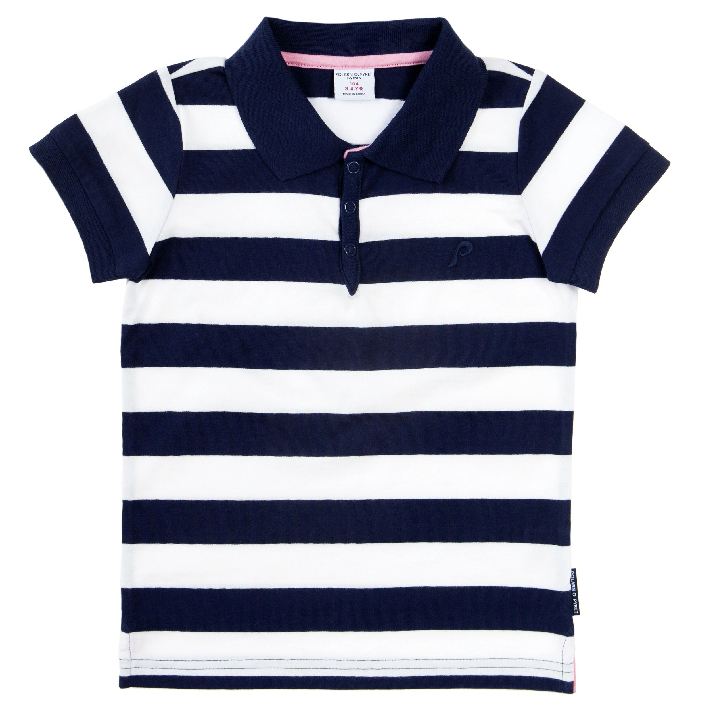 Babys striped polo shirt