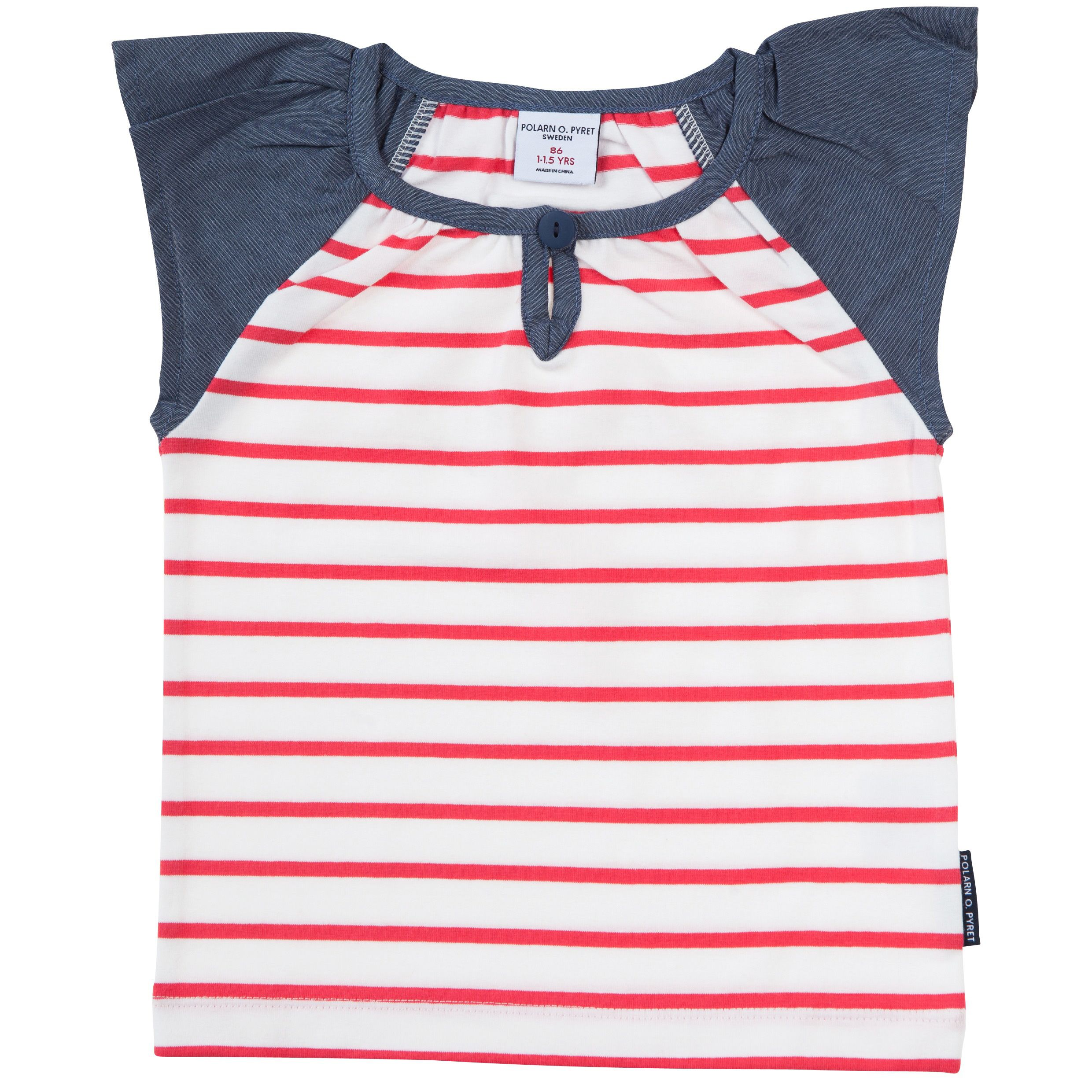 Baby girls striped ruffle sleeve top